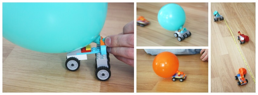 Lego Balloon Car Racing Measuring Distance