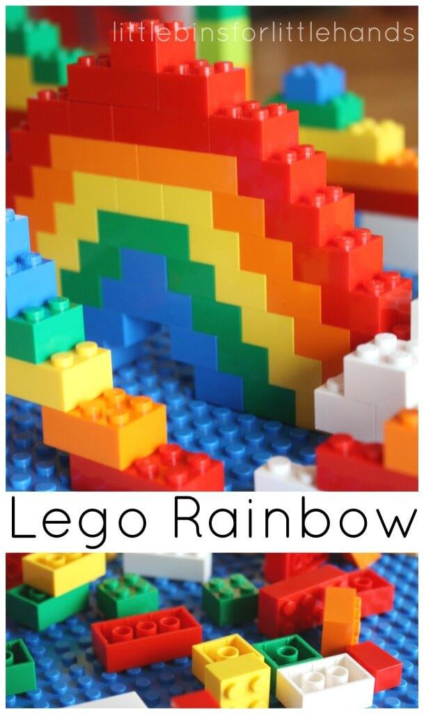 Lego Rainbow Activity Lego Building Challenge