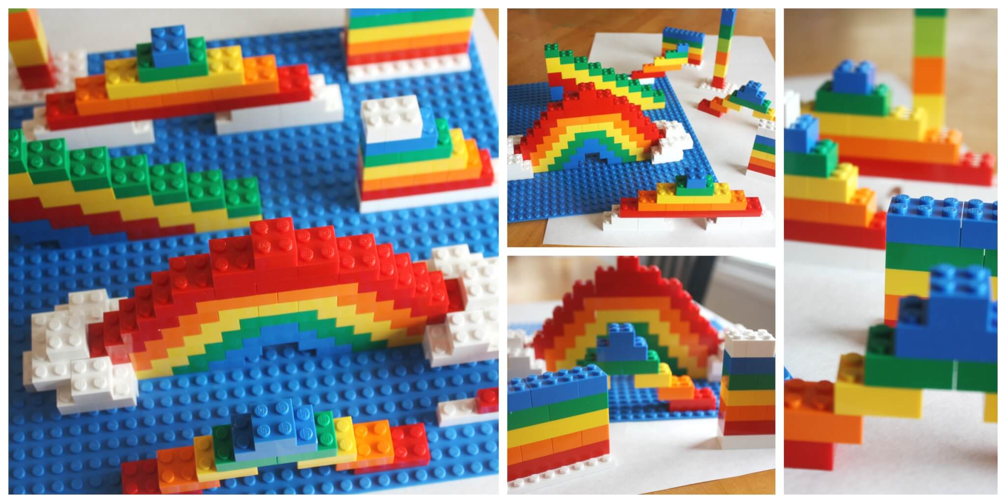 lego rainbow build challenge for kids. Black Bedroom Furniture Sets. Home Design Ideas