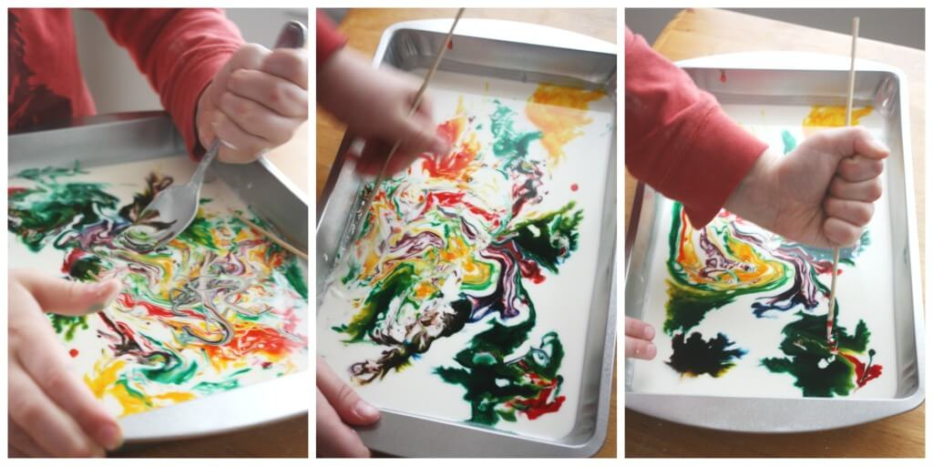Marble Oobleck Mixing Colors Science Activity