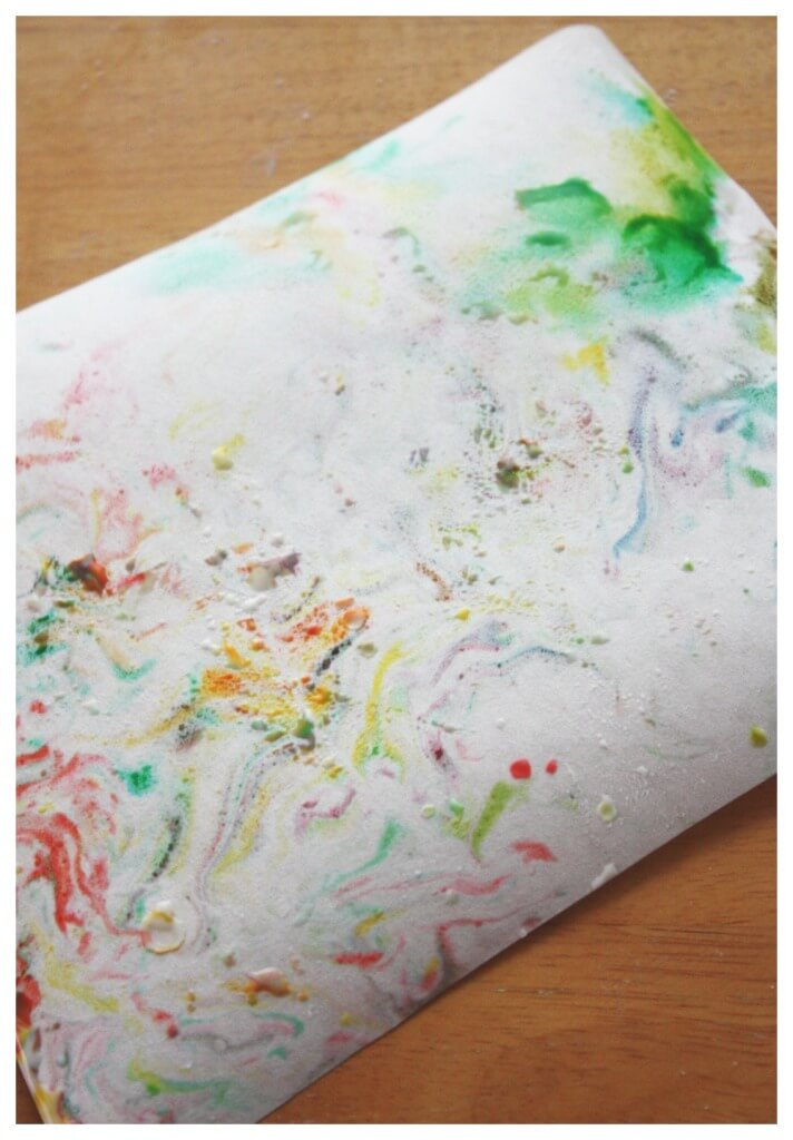 Marbled Oobleck Art Painting