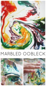 Marbled Oobleck Science Art Sensory Play Activity