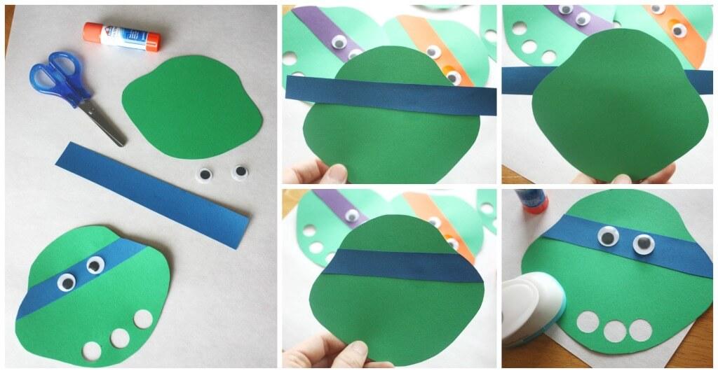 Ninja Turtle Finger Puppet Craft Activity Set Up Ninja Turtle Craft