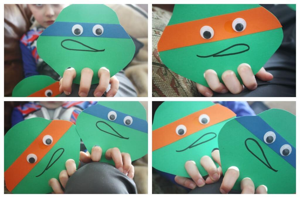 Ninja Turtle Finger Puppet Play Easy Ninja Turtle Craft