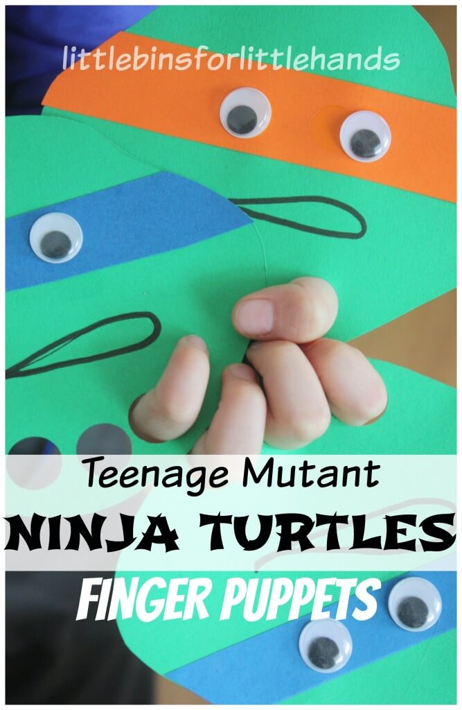 Ninja Turtle Finger Puppets Teenage Mutant Ninja Turtle Craft