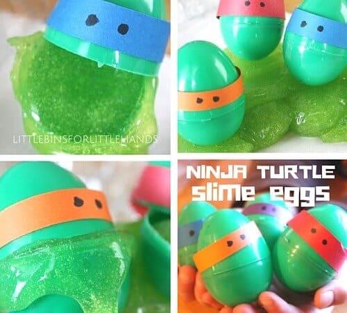 Ninja Turtle Slime Plastic Egg Activity for Kids