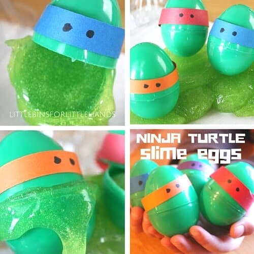 Ninja Turtle Slime in Plastic Easter Eggs