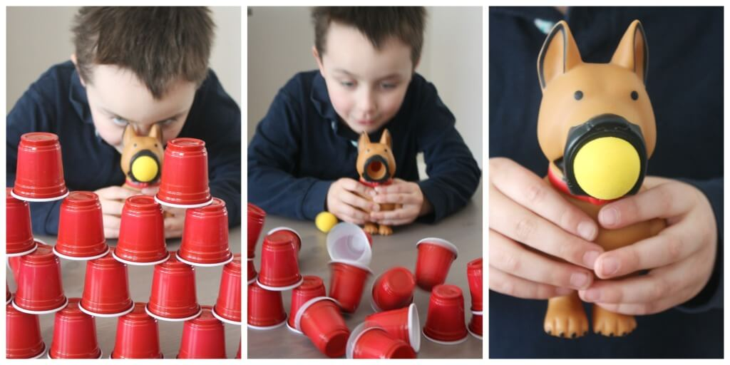 Popper Ball Game Fine Motor Play Knocking Down Cups Popping Balls