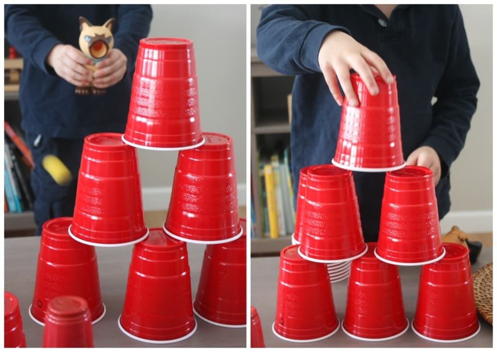 Popper Ball Game Plastic Cups