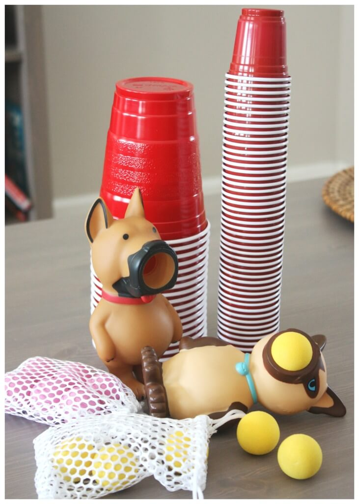 Popper Ball Game Supplies Plastic Cups and Popper Ball Cat and Dog