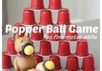Popper Ball Game for fun fine motor skills practice