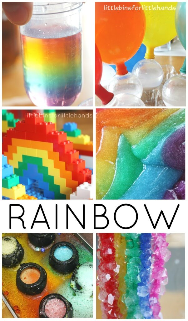 Rainbow Science Math Activities St Patricks Day