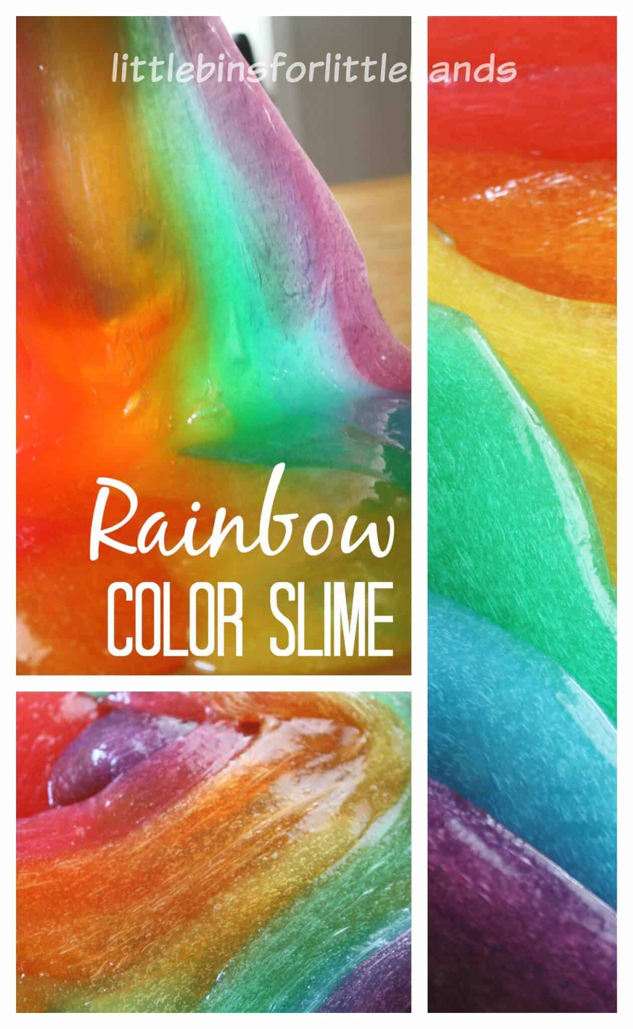 Rainbow Slime How To Make Colored Slime Sensory Play