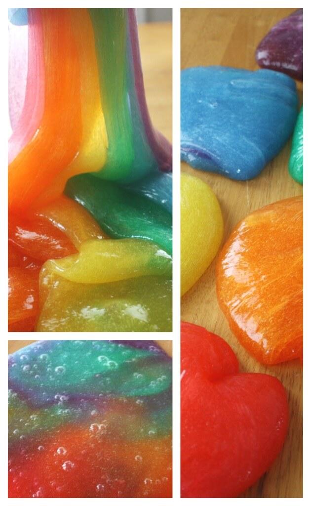 Rainbow Slime Sensory Play