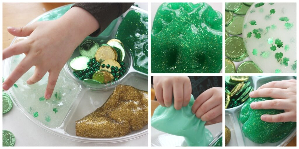 St Patricks Day Slime Activity Tray Leprechaun Activity