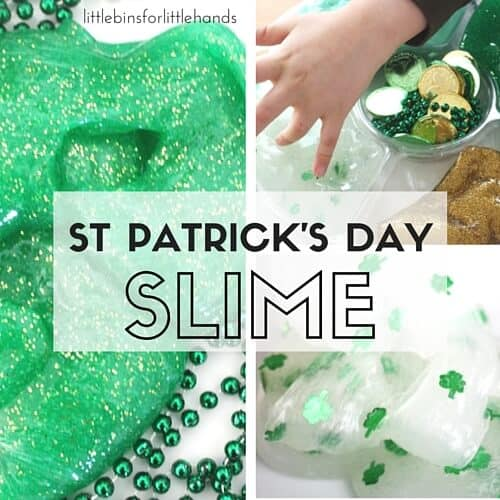St Patricks Day Slime Science and Sensory Holiday STEM
