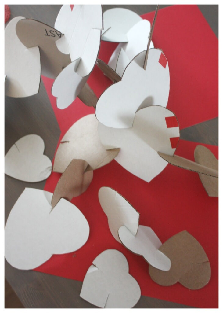cardboard Hearts Building Activity Heart Sculpture Heart STEM Valentine Building