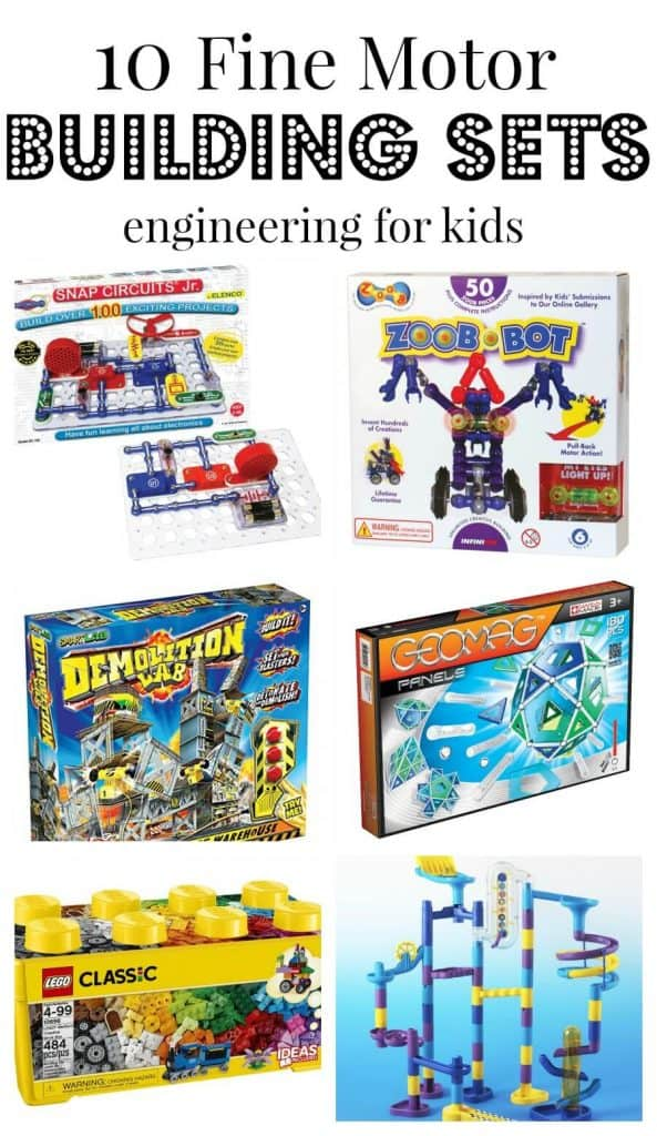 10 Fine Motor Building Sets Engineering Kits for Kids