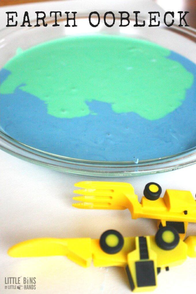 Earth day oobleck and goop for kids science experiments and activities