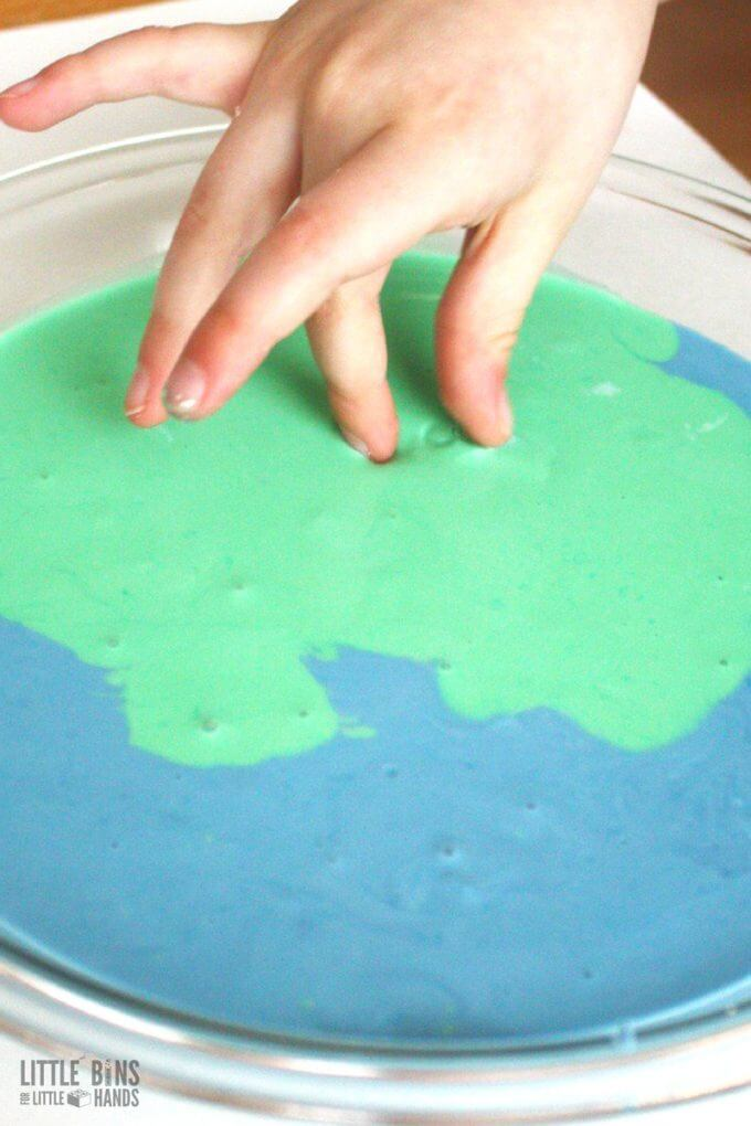 Learn how to make goop or oobleck for Earth Day science