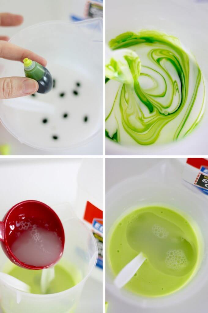 Make homemade flubber with kids step by step.