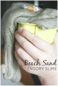 Beach Sand Sensory Slime Science Experiment Sensory Play