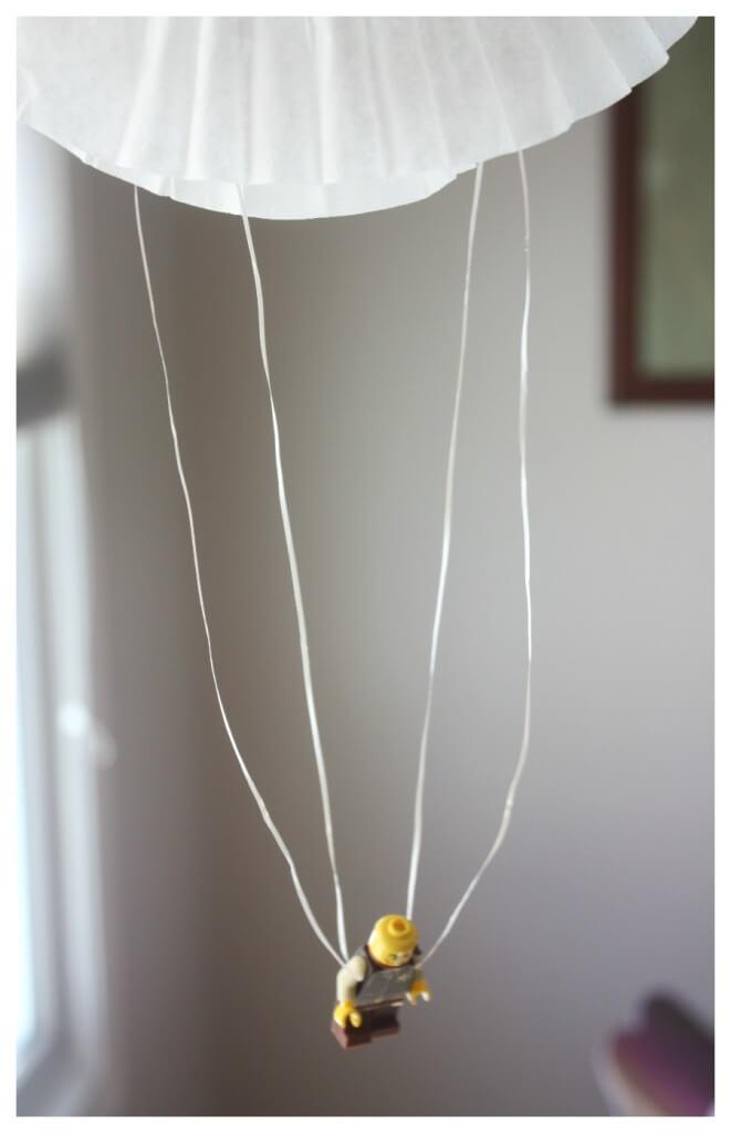 Coffee Filter Parachute Activity Minifigure Parachute
