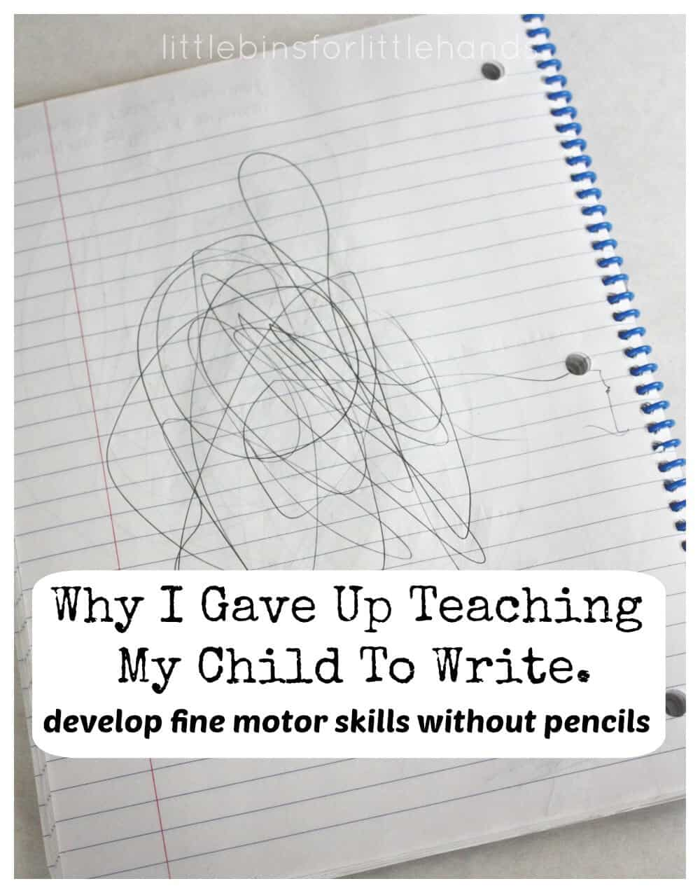 Develop Fine Motor Skills Without Using A Pencil