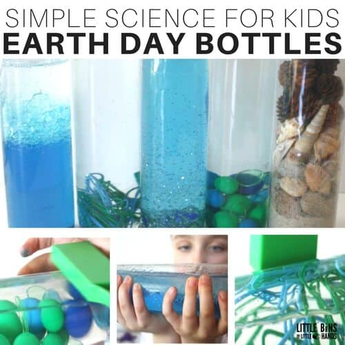 Earth Day Discovery Bottles or Earth Day Science Bottles Activities