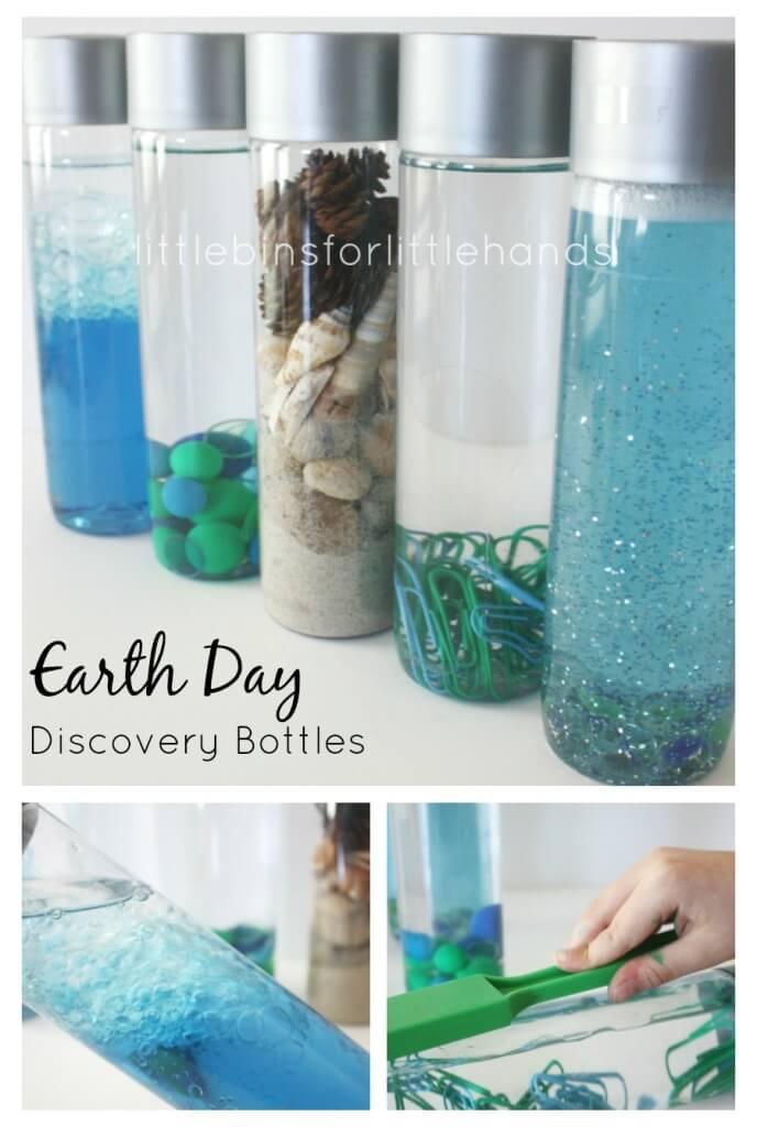 earth day discovery bottles science sensory bottles. Black Bedroom Furniture Sets. Home Design Ideas