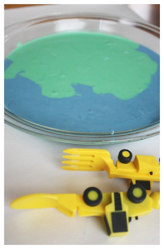Earth Day Oobleck Blue and Green Oobleck
