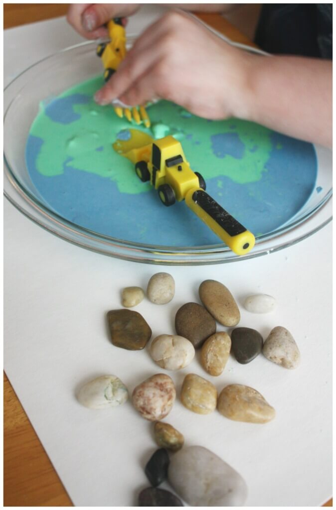 Earth Day Oobleck sensory play science activity