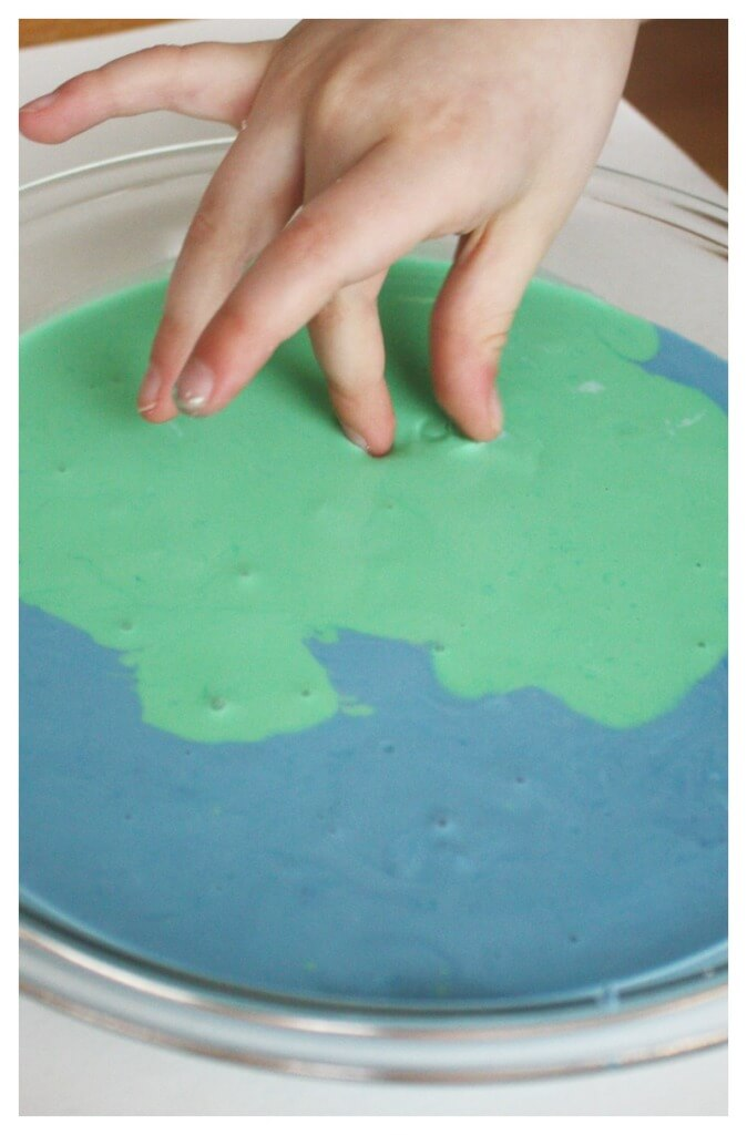 Earth Oobleck Science Activity Sensory Play for Earth Day