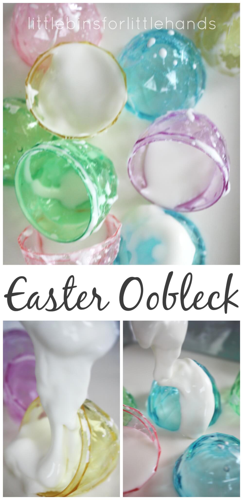 Easter Oobleck Science 2 Ingredient Sensory Play