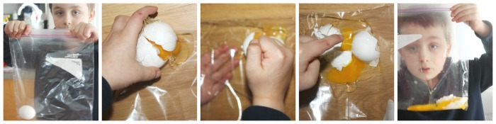 Egg Drop Activity Zip Lock Bag Egg Sensory Play