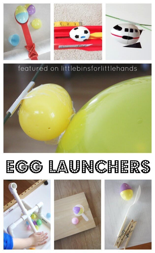 Egg Launchers Easer Science Activities Easter Engineering Projects Catapults