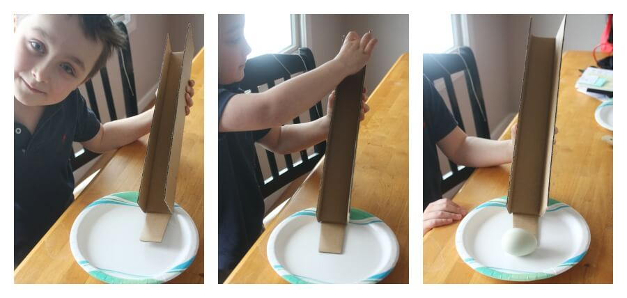 Egg Science Egg Gravity Ramp Activity