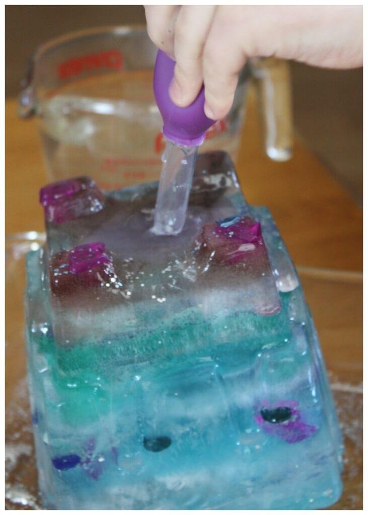 Elsa Frozen Castle Ice Melt Eyedropper Activity