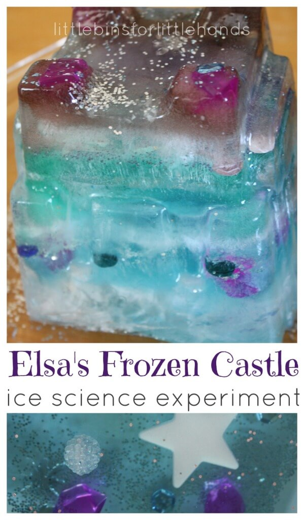 Elsa Frozen Castle Melting Ice Experiment Water Sensory Play
