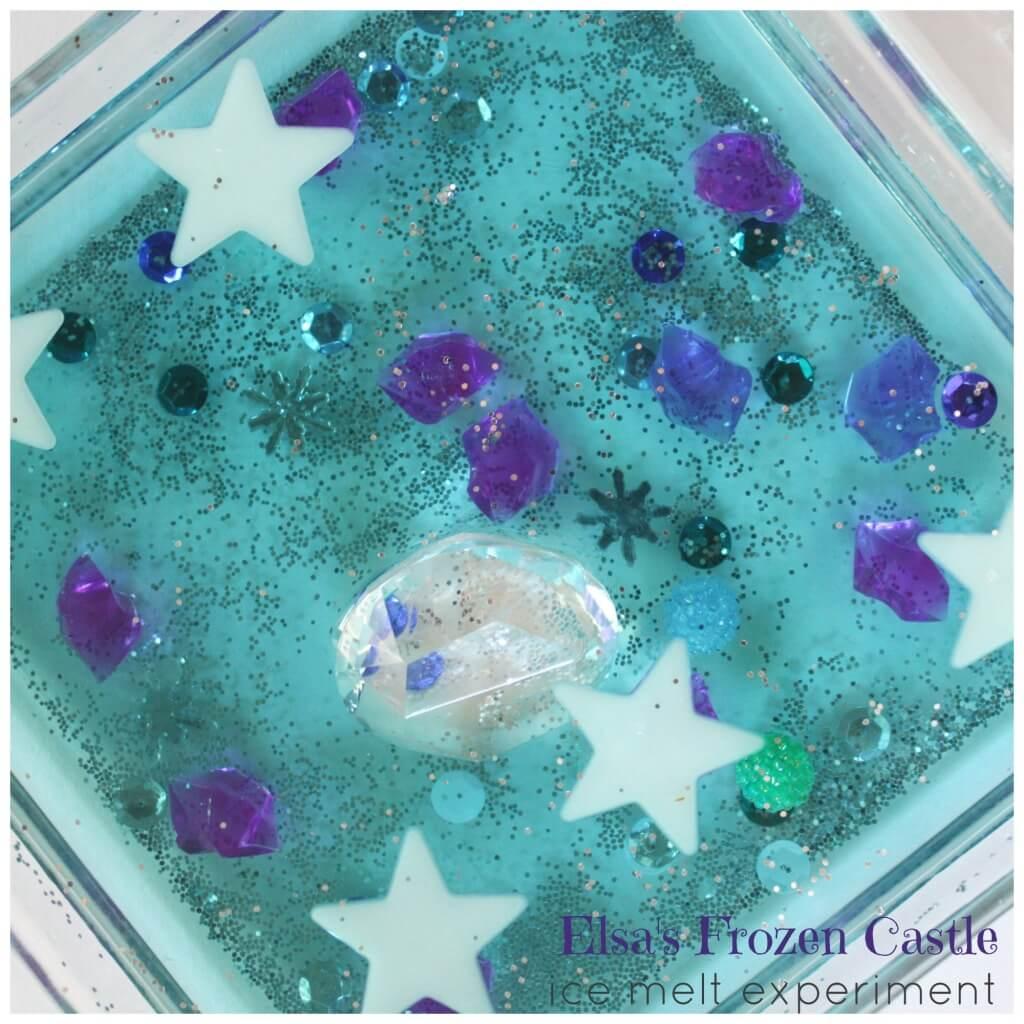 Elsa Frozen Castle Water Sensory Play