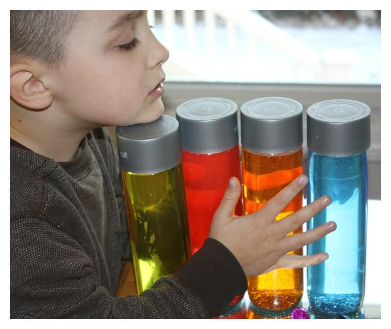 Glitter Bottle for Sensory Play Anxiety