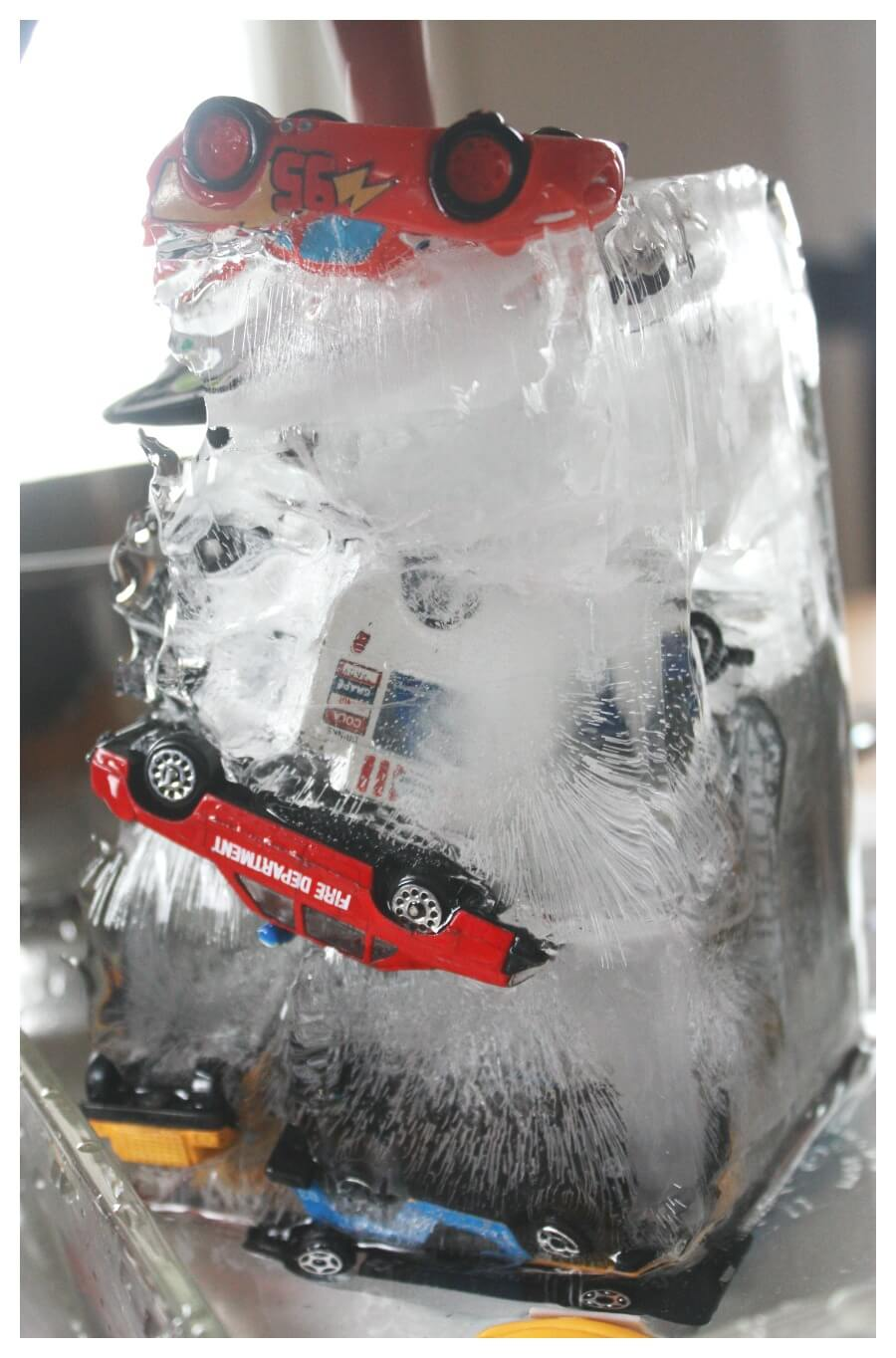 Melting Ice Activity With Frozen Hot Wheels Cars Rescue