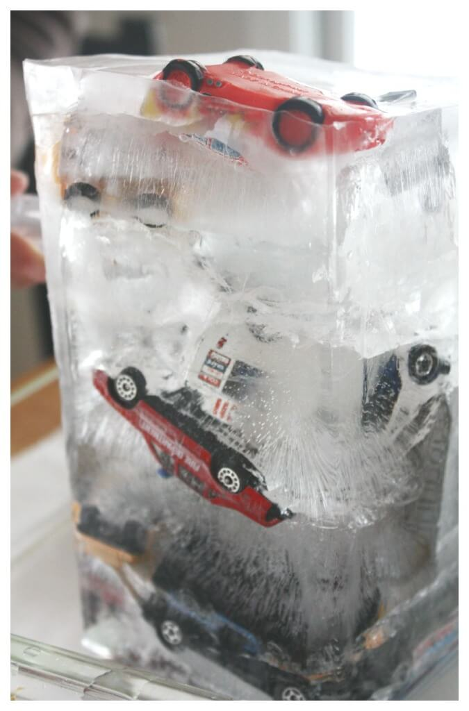 Ice Car Rescue Ice Tower Frozen Car Sensory Play