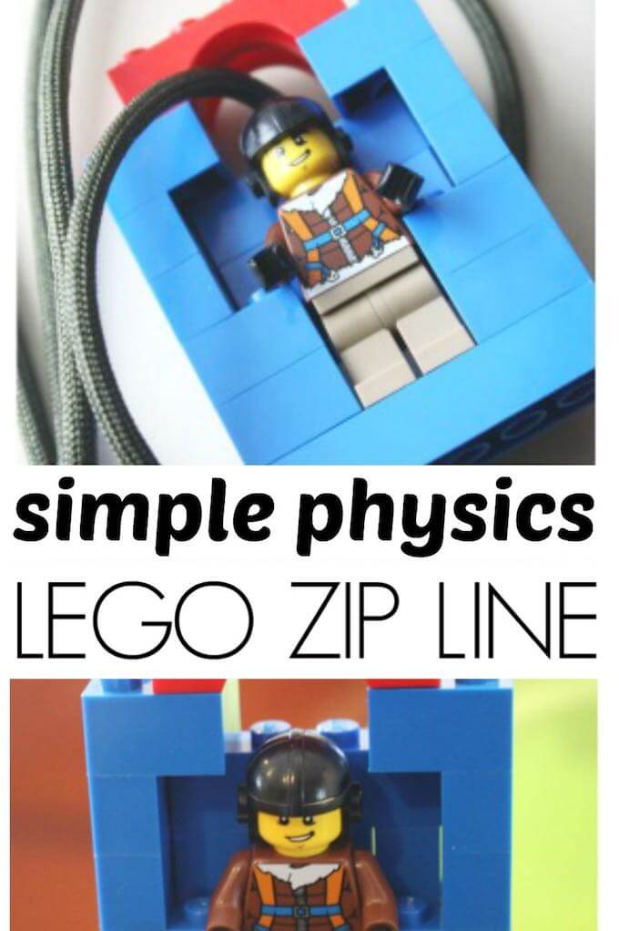 Homemade lego man zip line