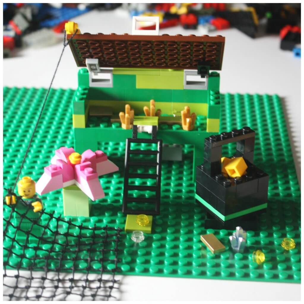 Lego Leprechaun Trap Scene Lego build challenge Pot of Gold Lego Flower