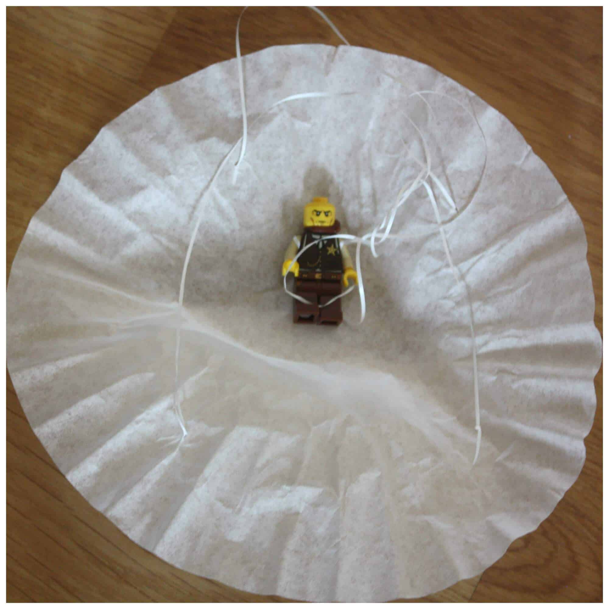 Coffee Filter Parachute Lego Minifigure Parachute Activity