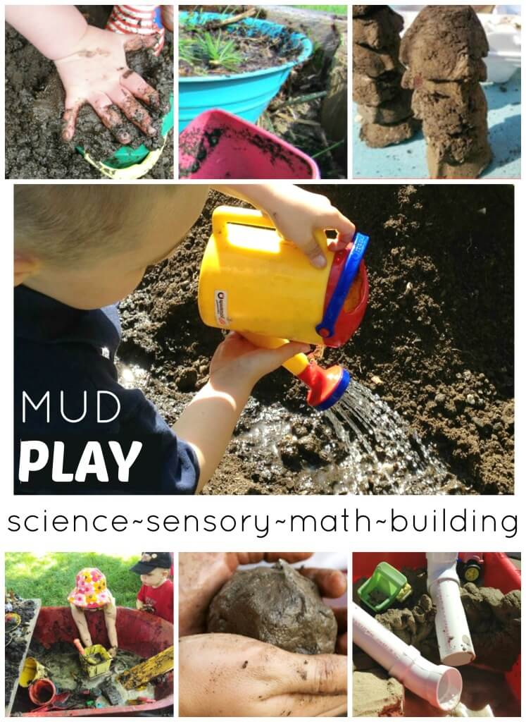 Mud Play Activities for Kids Science Sensory Math Building Play Dirt Water