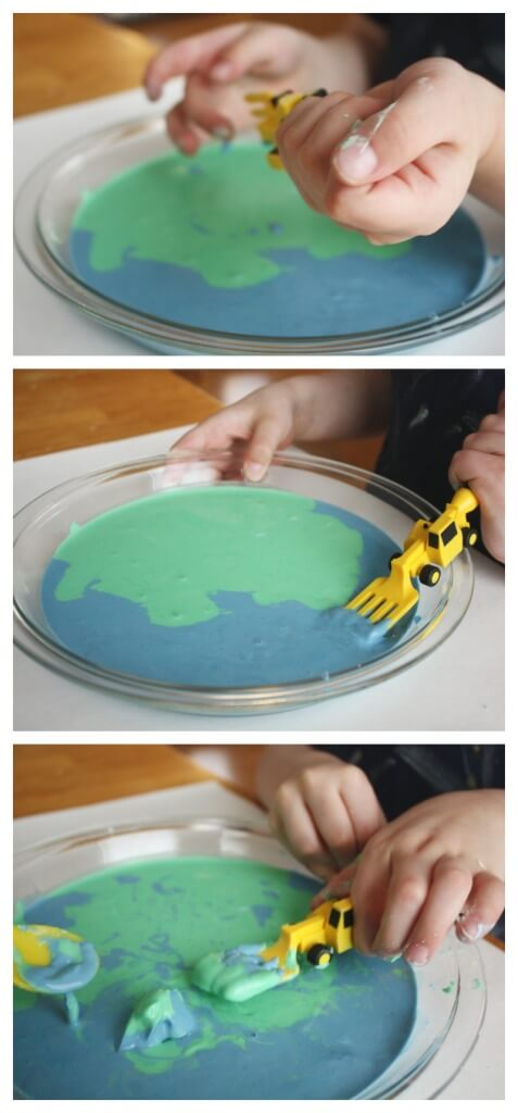 Oobleck Sensory play Earth Day Activity