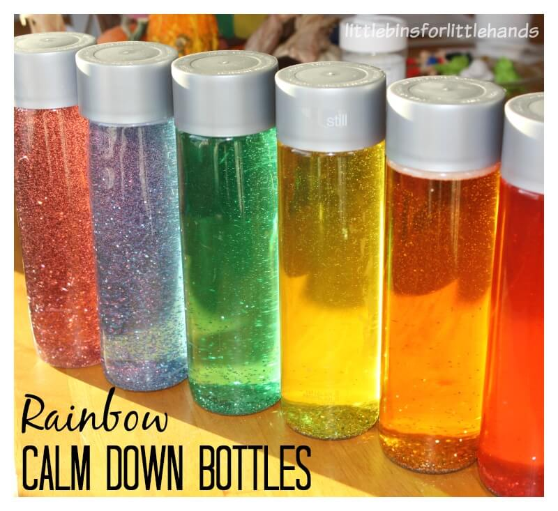 Rainbow Calm Down Bottles