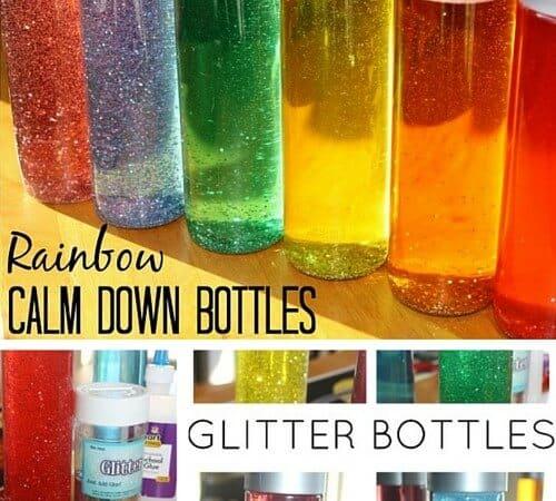 Glitter Bottle Calm Down Sensory Tool for Kids